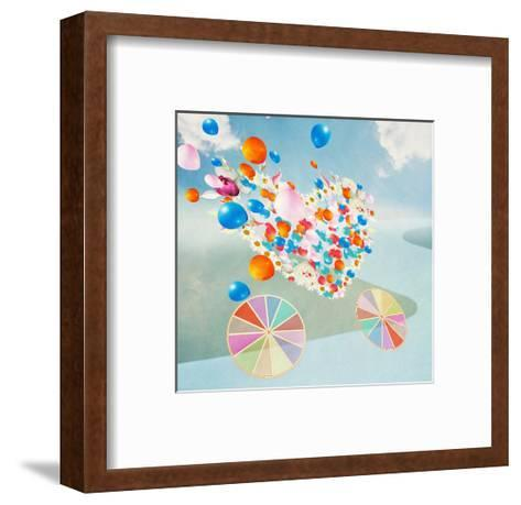 Wedding Coach in the Shape of Heart is Racing on the Road-vipa21-Framed Art Print