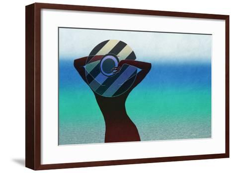 Girl and on the Beach-vipa21-Framed Art Print