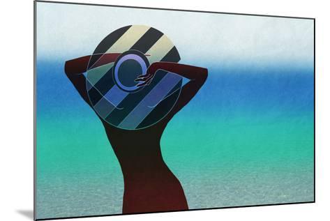 Girl and on the Beach-vipa21-Mounted Art Print