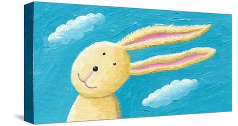 Cute Rabbit in the Wind-andreapetrlik-Stretched Canvas Print