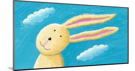 Cute Rabbit in the Wind-andreapetrlik-Mounted Art Print