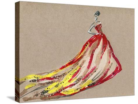 Elegant Dress .Abstract Watercolor-Anna Ismagilova-Stretched Canvas Print