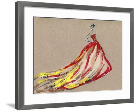 Elegant Dress .Abstract Watercolor-Anna Ismagilova-Framed Art Print