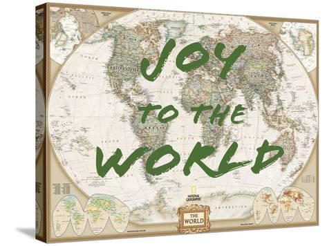 Joy to the world world map framed art print by national geographic joy to the world world map national geographic maps stretched canvas print gumiabroncs Choice Image