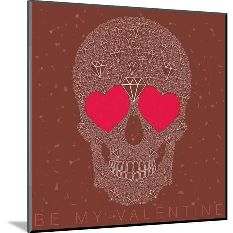 Vector Funny, Candy Skull-karnoff-Mounted Art Print