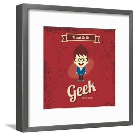 Cartoon Geek Character-vector1st-Framed Art Print