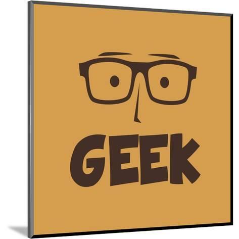 Geek Guy-vector1st-Mounted Art Print
