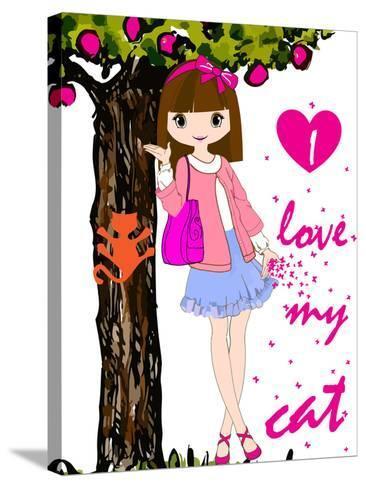 Kids Girl-emeget-Stretched Canvas Print