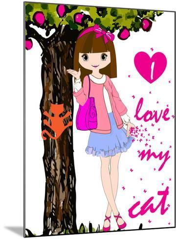 Kids Girl-emeget-Mounted Art Print