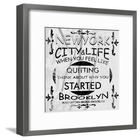 New York City Vector Art-emeget-Framed Art Print