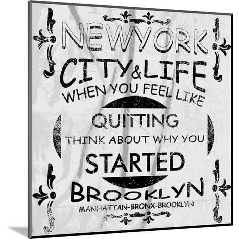 New York City Vector Art-emeget-Mounted Art Print