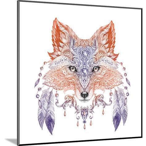 Tattoo, Portrait of A Wild Fox-Vensk-Mounted Art Print