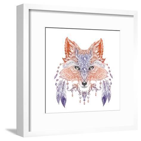 Tattoo, Portrait of A Wild Fox-Vensk-Framed Art Print