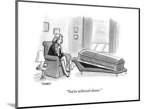 """You've achieved closure."" - New Yorker Cartoon-Benjamin Schwartz-Mounted Premium Giclee Print"