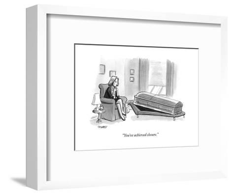 """You've achieved closure."" - New Yorker Cartoon-Benjamin Schwartz-Framed Art Print"