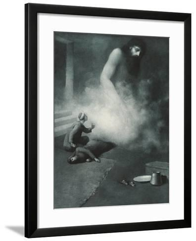 Aladdin and the Genie, 1897-Albert Letchford-Framed Art Print
