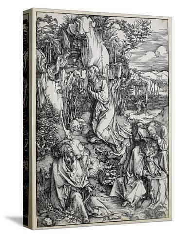 Christ on the Mount of Olives, 1496/99 (Woodcut with Some Old Repairings in Ink)-Albrecht D?rer-Stretched Canvas Print
