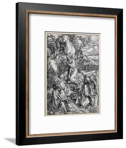 Christ on the Mount of Olives, 1496/99 (Woodcut with Some Old Repairings in Ink)-Albrecht D?rer-Framed Art Print