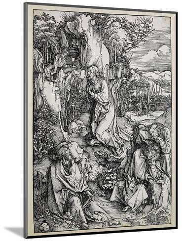 Christ on the Mount of Olives, 1496/99 (Woodcut with Some Old Repairings in Ink)-Albrecht D?rer-Mounted Giclee Print