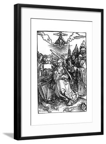The Holy Family with Five Angels, C.1504-Albrecht D?rer-Framed Art Print