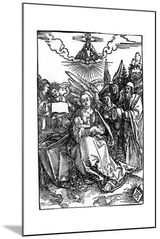 The Holy Family with Five Angels, C.1504-Albrecht D?rer-Mounted Giclee Print