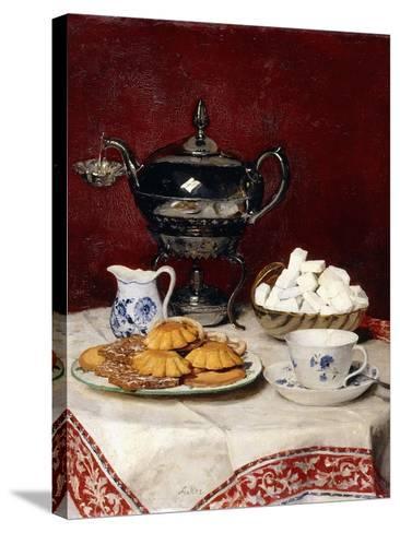 Still Life: Tasteful Tea, 1897-Albert Anker-Stretched Canvas Print