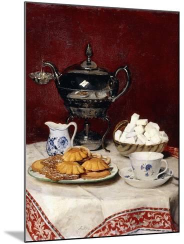 Still Life: Tasteful Tea, 1897-Albert Anker-Mounted Giclee Print