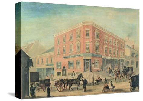 Corner of George and Hunter Streets, Sydney, 1849-A. Torning-Stretched Canvas Print