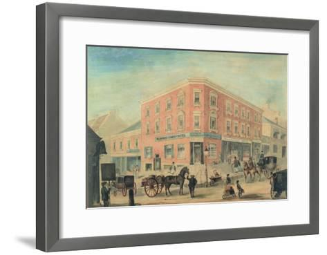 Corner of George and Hunter Streets, Sydney, 1849-A. Torning-Framed Art Print
