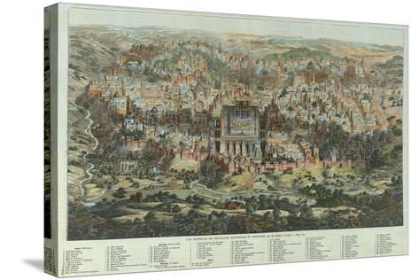 A General View of Jerusalem, 1862-Adolf Eltzner-Stretched Canvas Print