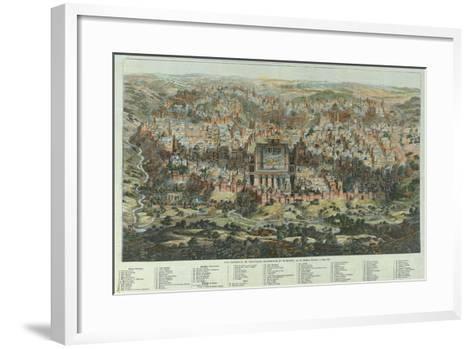 A General View of Jerusalem, 1862-Adolf Eltzner-Framed Art Print