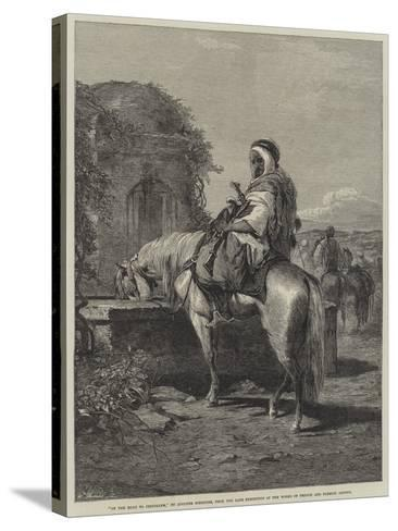 On the Road to Jerusalem-Adolf Schreyer-Stretched Canvas Print