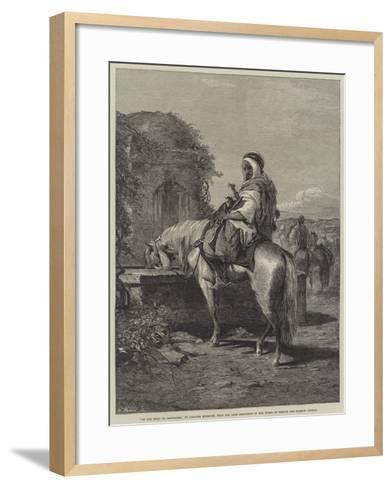 On the Road to Jerusalem-Adolf Schreyer-Framed Art Print