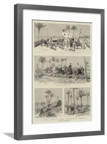 Sport in Egypt, a Ladies' Paper-Chase on Donkeys-Adrien Emmanuel Marie-Framed Art Print