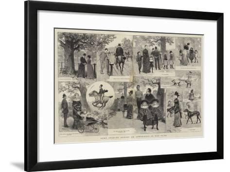 Some Studies During an Afternoon in the Park-Adrien Emmanuel Marie-Framed Art Print