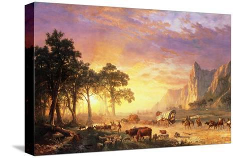The Oregon Trail, 1869-Albert Bierstadt-Stretched Canvas Print