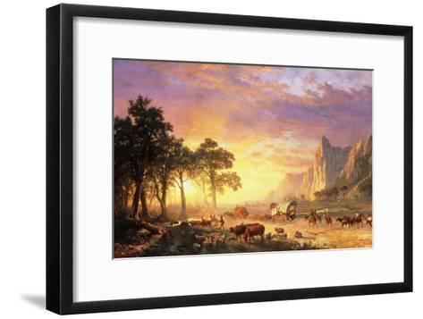 The Oregon Trail, 1869-Albert Bierstadt-Framed Art Print