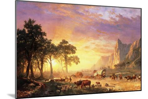 The Oregon Trail, 1869-Albert Bierstadt-Mounted Giclee Print