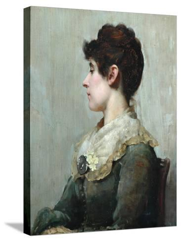 Profile Portrait of a Woman-Albert Starling-Stretched Canvas Print