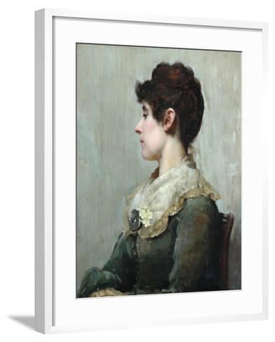 Profile Portrait of a Woman-Albert Starling-Framed Art Print