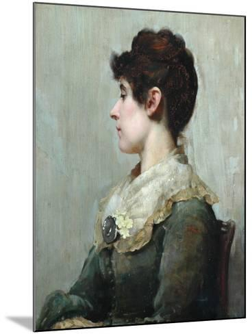 Profile Portrait of a Woman-Albert Starling-Mounted Giclee Print