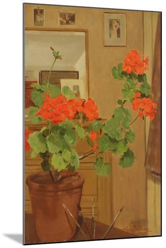 Ab/319 Geraniums in a Studio Corner, 1948-49-Albert Williams-Mounted Giclee Print