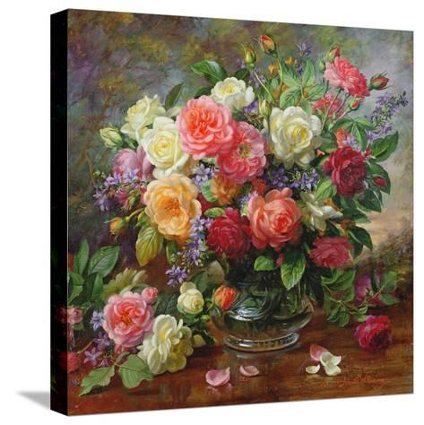 Roses - the Perfection of Summer-Albert Williams-Stretched Canvas Print