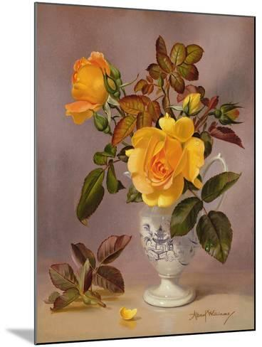 Orange Roses in a Blue and White Jug-Albert Williams-Mounted Giclee Print