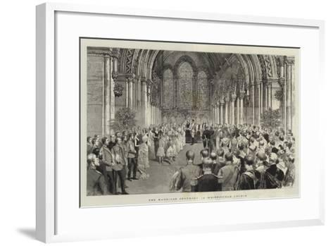The Marriage Ceremony in Whippingham Church-Adrien Emmanuel Marie-Framed Art Print