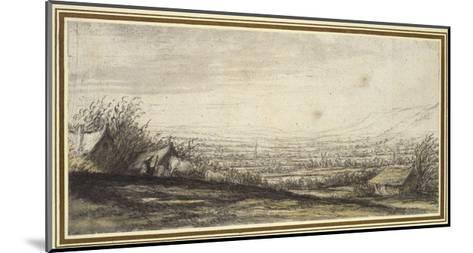 Extensive Landscape with Cottage and Cattle (Black Chalk, Grey and Yellow Wash)-Aelbert Cuyp-Mounted Giclee Print