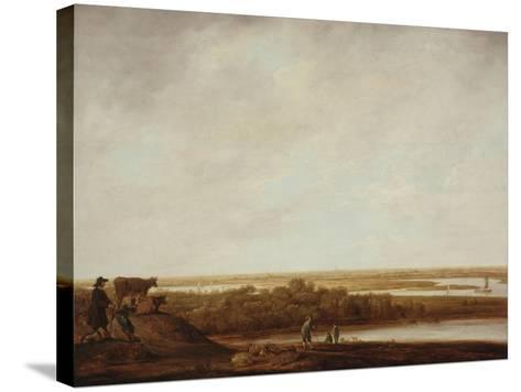 Panoramic Landscape with Shepherds, 1640-45-Aelbert Cuyp-Stretched Canvas Print
