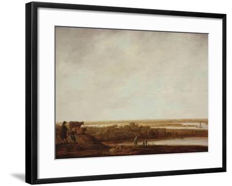 Panoramic Landscape with Shepherds, 1640-45-Aelbert Cuyp-Framed Art Print