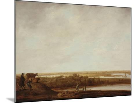Panoramic Landscape with Shepherds, 1640-45-Aelbert Cuyp-Mounted Giclee Print