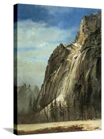 Cathedral Rocks, Yosemite, C.1872-Albert Bierstadt-Stretched Canvas Print